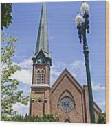 Schenectady Bell Tower Wood Print