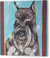 Schnauzer Flossing Wood Print by Jay  Schmetz