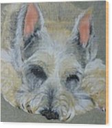 Schnauzer Pet Portrait Original Oil Painting 8x10 Inches Made To Order Wood Print