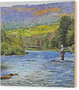Schoharie Creek Wood Print by Kenneth Young