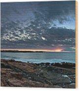 Schoodic Point Sunrise 7218 Wood Print