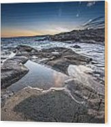 Schoodic Reflections Wood Print