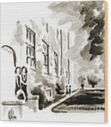 School Days At Ursuline II Wood Print by Kip DeVore