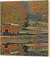 School Days Of Autumn Wood Print