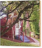School House Wood Print by Donald Torgerson