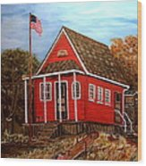 School House Wood Print