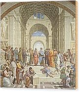 School Of Athens Wood Print by Raphael