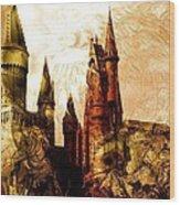 School Of Magic Wood Print by Anastasiya Malakhova