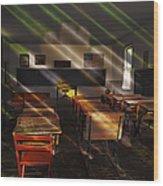School - Old School Charm  Wood Print