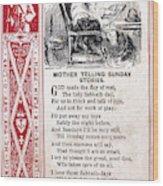 School Trade Card, C1860 Wood Print