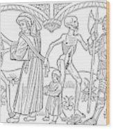 Schoolmaster And Soldier Wood Print