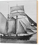 Schooner, 1888 Wood Print
