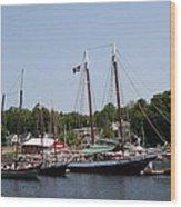 Schooner - Camden Harbor - Maine Wood Print