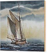 Schooner Wood Print