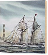 Schooner Light Wood Print