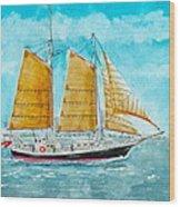Schooner Spirit Of Independence Wood Print