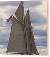 Schooner Virginia Wood Print