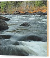 schroon Rapids in Autumn Wood Print