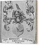 Schuyler Family Arms Wood Print