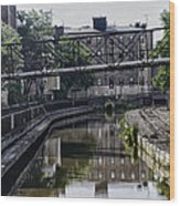 Schuylkill Canal In Manayunk Wood Print by Bill Cannon