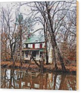 Schuylkill Canal Port Providence Wood Print