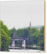 Schuylkill River At Manayunk Philadelphia Wood Print by Bill Cannon