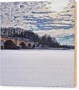 Schuylkill River - Frozen Wood Print