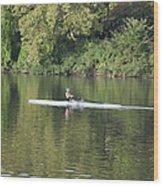 Schuylkill Rower Wood Print