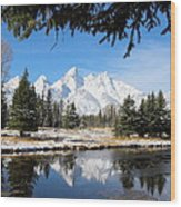 Schwabacher Landing - Grand Teton National Park Wood Print