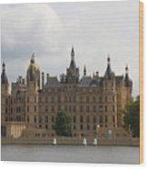 Schwerin Castle Front Aspect Wood Print