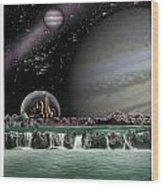 Sci-fi Wood Print