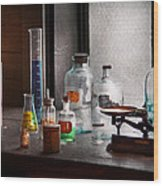 Science - Chemist - Chemistry Equipment  Wood Print