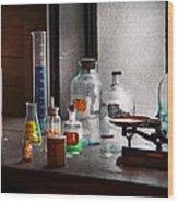 Science - Chemist - Chemistry Equipment  Wood Print by Mike Savad