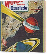 Science Fiction Cover, 1931 Wood Print