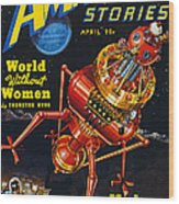 Science Fiction Cover, 1939 Wood Print