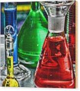 Science - Lab Glass Wood Print