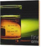 Scientific Beaker In Science Research Lab Wood Print