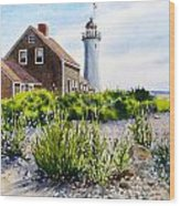 Scituate Light By Day Wood Print by Karol Wyckoff