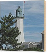 Scituate Light Five Wood Print