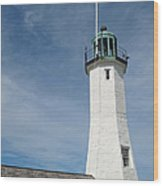 Scituate Light Four Wood Print