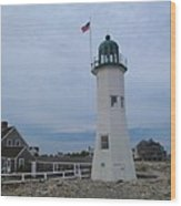 Scituate Light Two Wood Print