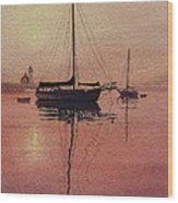 Scituate Serenity Wood Print by Karol Wyckoff