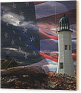 Scituate Strong Protecting American Shoreline Wood Print