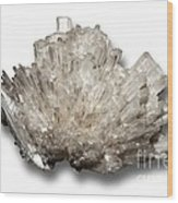 Scolecite Mineral Wood Print