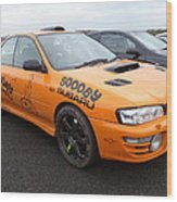 Scooby Subaru Wood Print