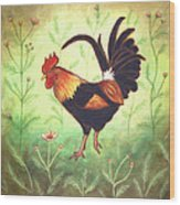 Scooter The Rooster Wood Print