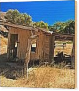 Scorpion Ranch Remnants Wood Print