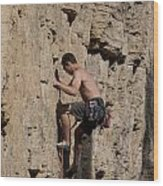 Scorched Earth Climbing 1 Wood Print