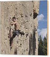 Scorched Earth Climbing 2 Wood Print