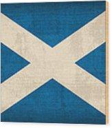 Scotland Flag Vintage Distressed Finish Wood Print by Design Turnpike